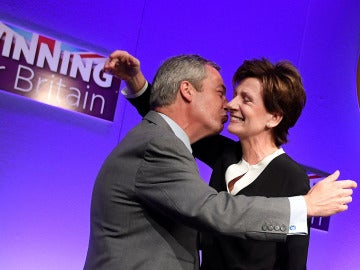 Nigel Farage y Diane James
