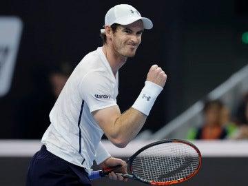 Andy Murray durante un partido en el Open de Pekín