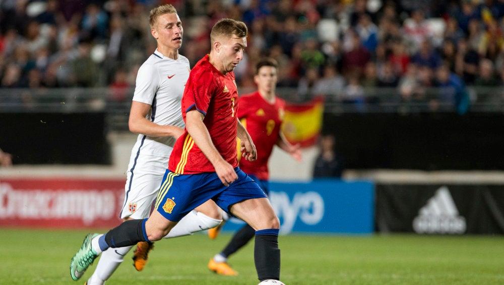 Gerard Deulofeu durante el partido ante San Marino