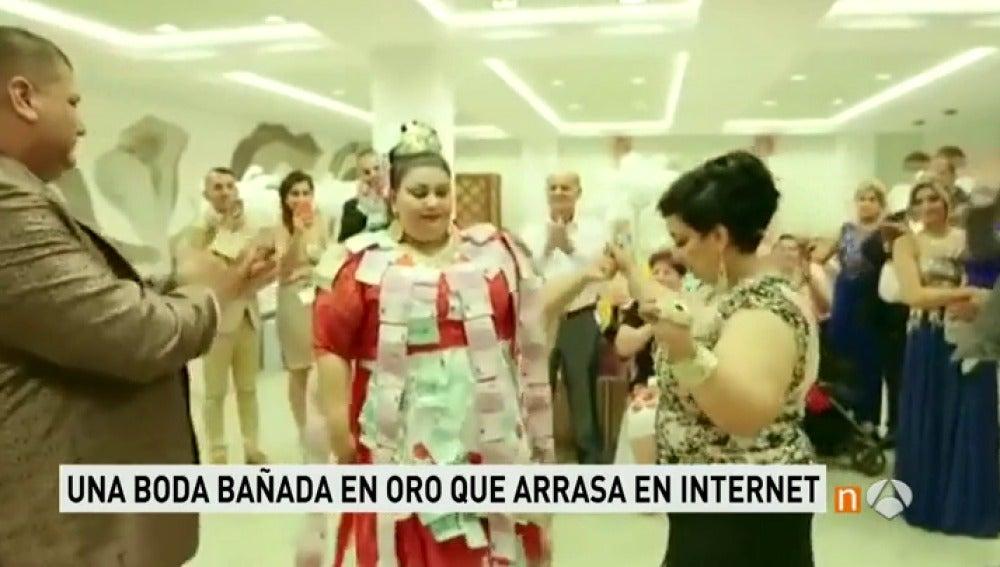 Frame 16.897692 de: Una novia gitana se gasta más de 150.000 euros en cada uno de sus vestidos de boda