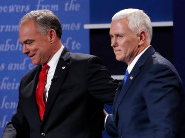 Tim Kaine y Mike Pence