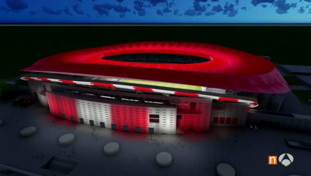 Así estará iluminado el nuevo estadio del Atlético de Madrid