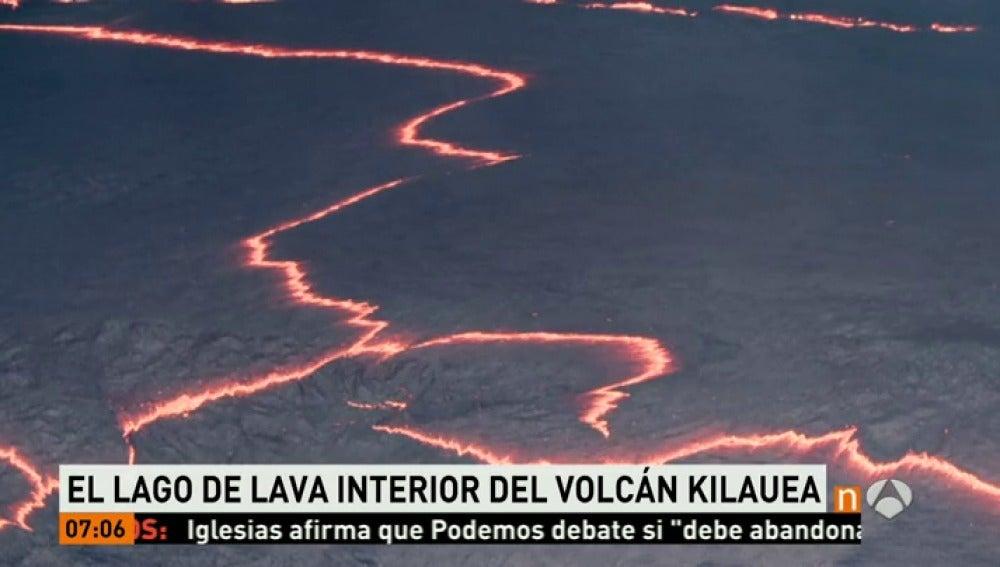 Frame 16.22109 de: Un volcán hawaiano deja imágenes impresionantes de un lago de lava