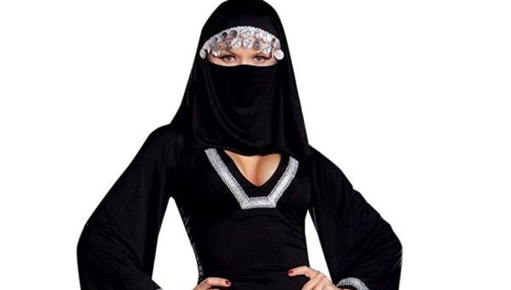 Ejemplar del sexy burka a la venta en Amazon