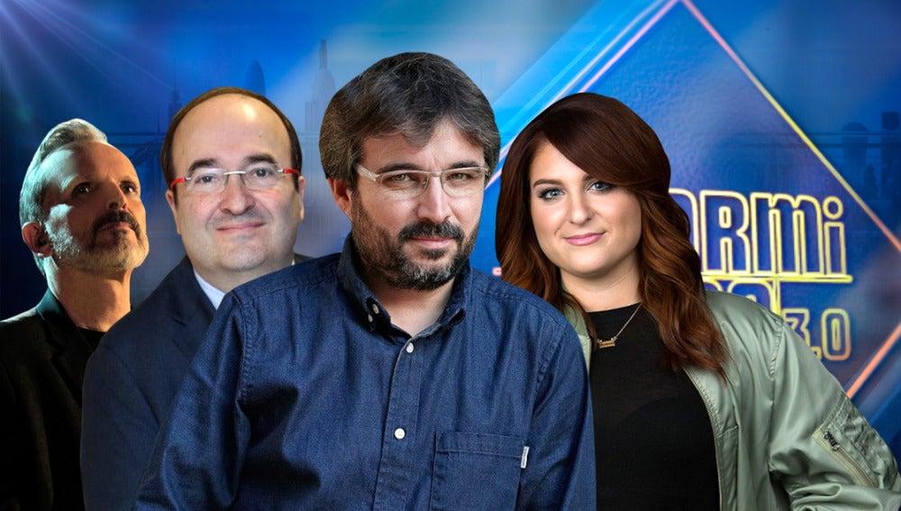 Miguel Bosé, Miquel Iceta, Jordi Évole y Meghan Trainor visitarán la próxima semana el 'El Hormiguero 3.0'