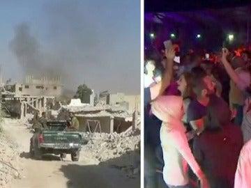Brutal contraste en Alepo