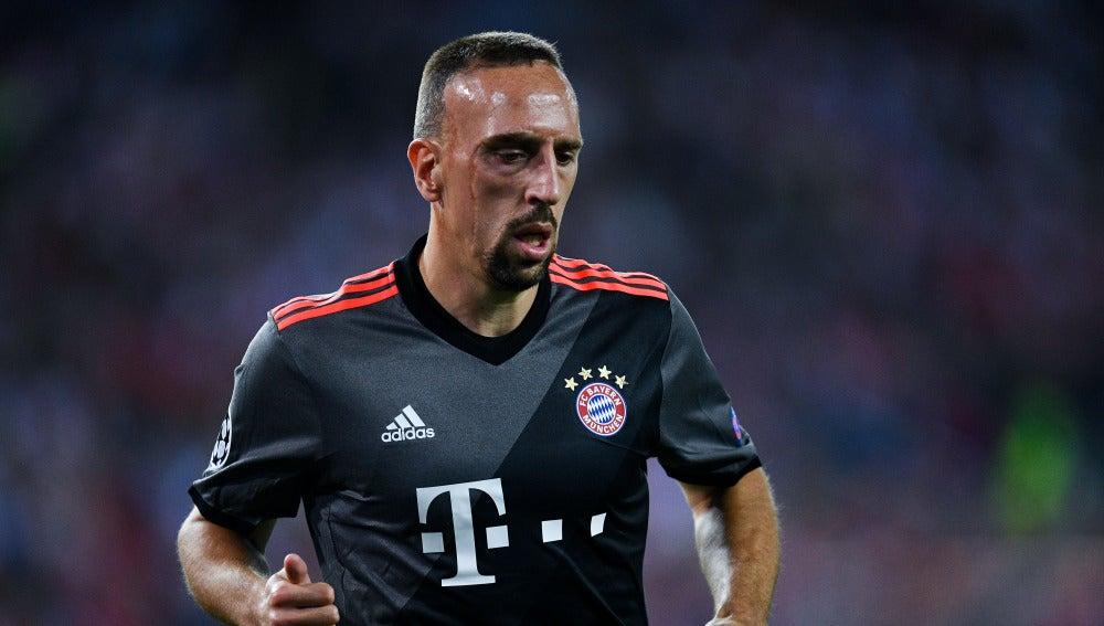 Ribery, en un partido del Bayern de Múnich