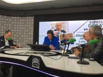 Javier Tebas, Miguel Cardenal, Alejandro Blanco y Luis Rubiales, en El Transistor