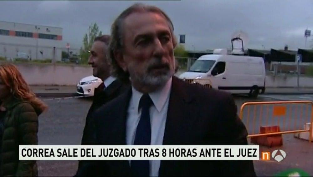 Correa a su salida del juzgado
