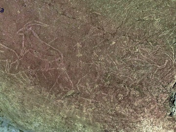 Los grabados hallados en una cueva de Vizcaya
