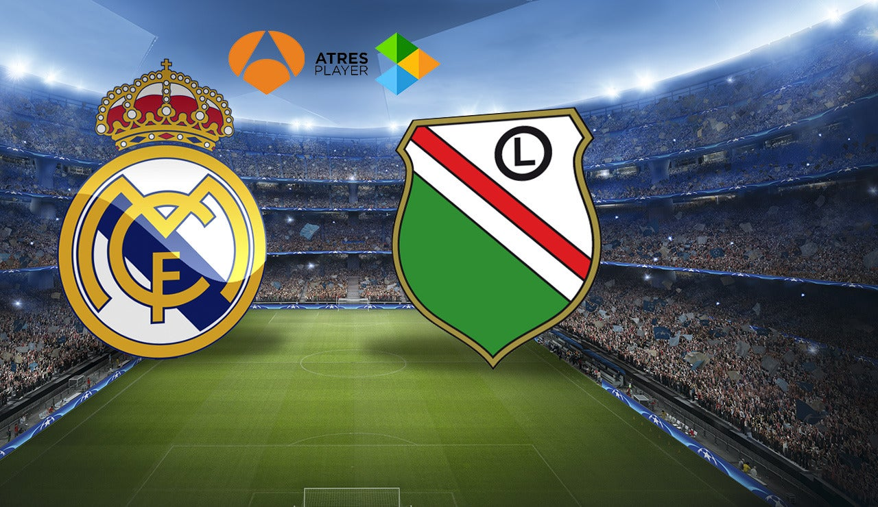 Real Madrid - Legia en Antena 3 y Atresplayer