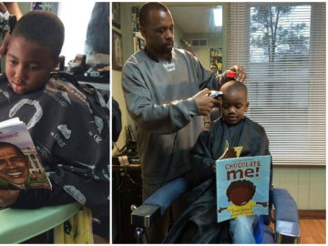Barbería que fomenta la lectura de los pequeños