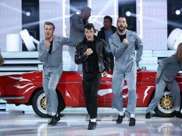 Blas Cantó imita a John Travolta y canta 'Greased lightning'