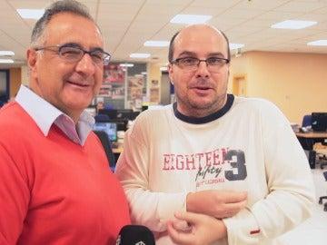 Mister Chip y Roberto Gómez en la redacción de Onda Cero