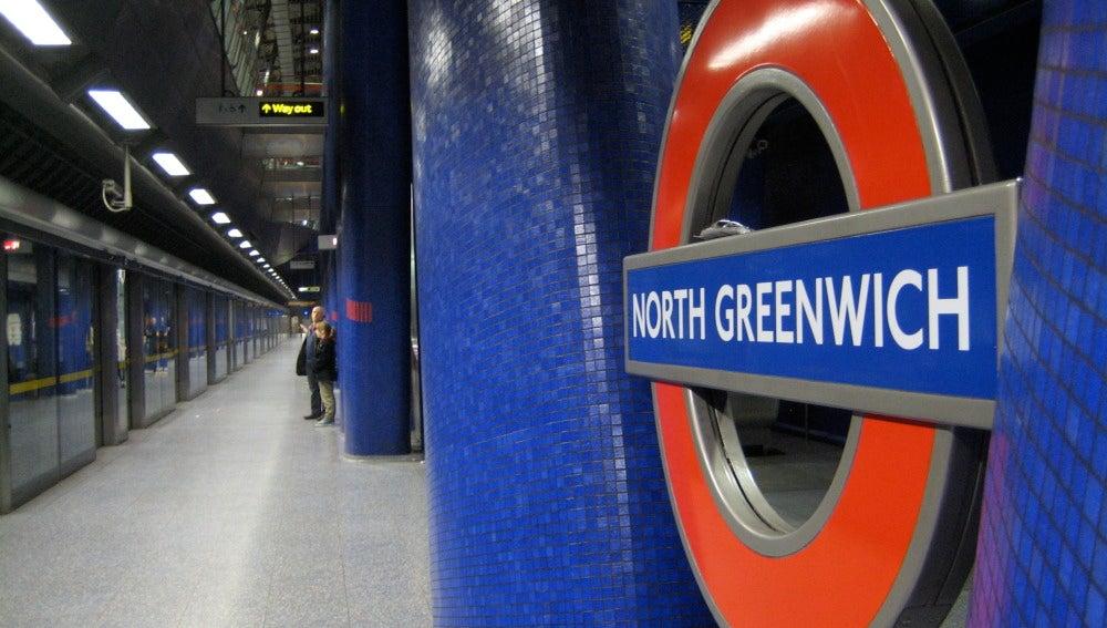 Imagen de la estación de metro de North Greenwich, en Londres