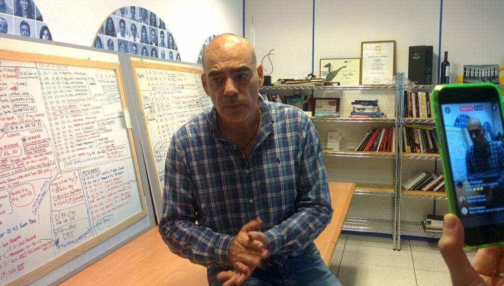 Nacho Abad en un momento de la intervención en Facebooklive.