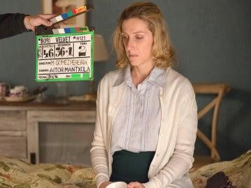 Cecilia Freire concentrada para meterse en el papel de Rita Montesinos
