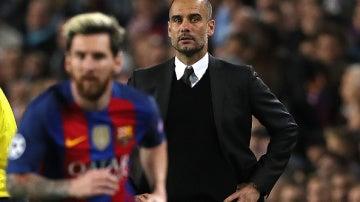 Pep Guardiola y Messi