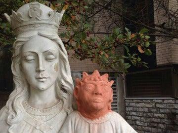 Restauración de un niño Jesús en Ontario, Canadá