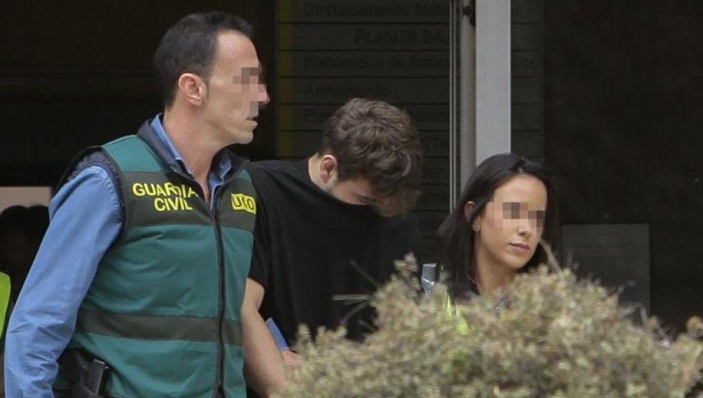 Patrick Nogueira, tras confesar el crimen de Pioz