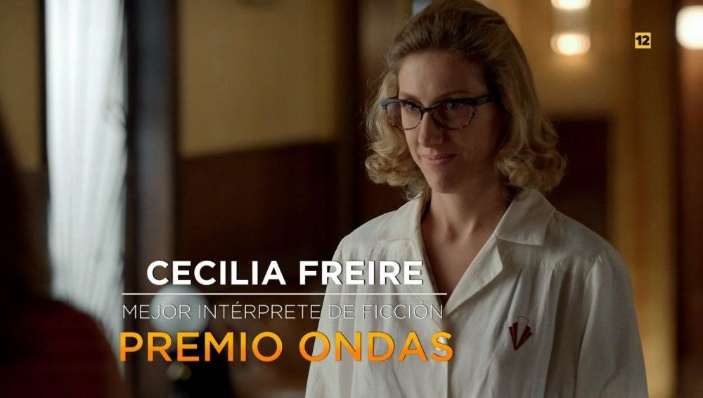 Cecilia Freire, galardonada con el Premio Ondas por su interpretación de Rita en 'Velvet'