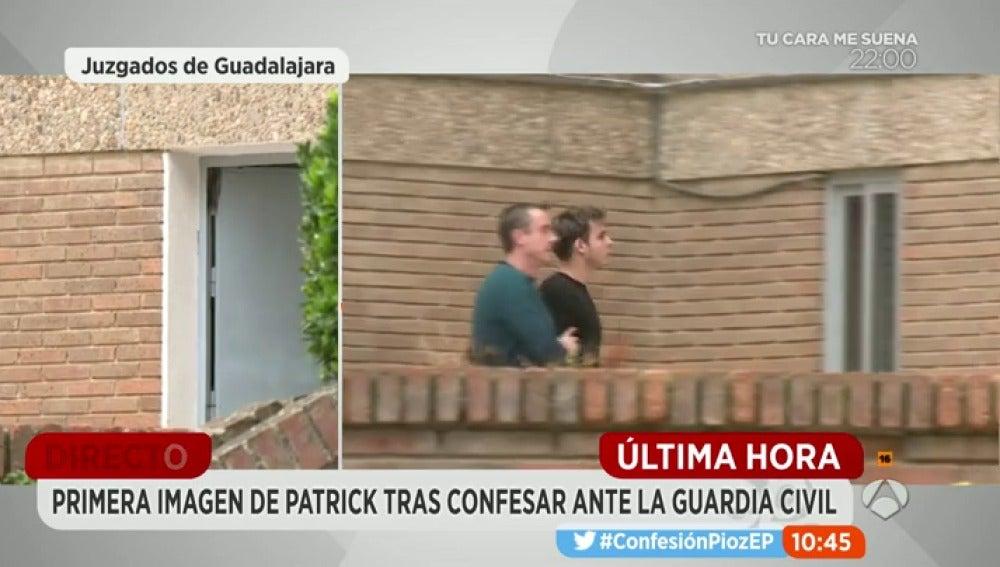Primeras imágenes de Patrick tras confesar