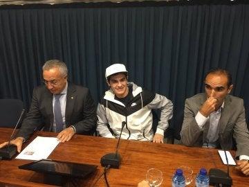Bruno Hortelano comparece ante los medios de comunicación