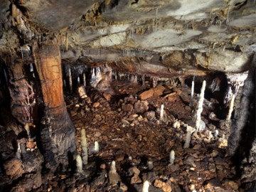 Estructura de la galería baja de la cueva de La Garma en Cantabria