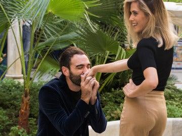 Jon Plazaola y María León en la presentación de la tercera temporada