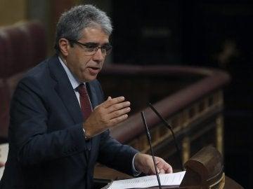 Francesc Homs durante su intervención en la segunda sesión de investidura