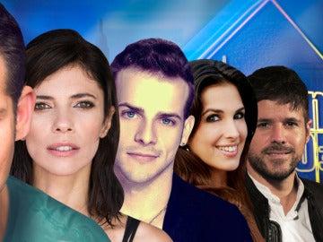 Maribel Verdú, Manu Tenorio, Nuria Fergó y Álex Casademunt y Pablo López en 'El Hormiguero 3.0'