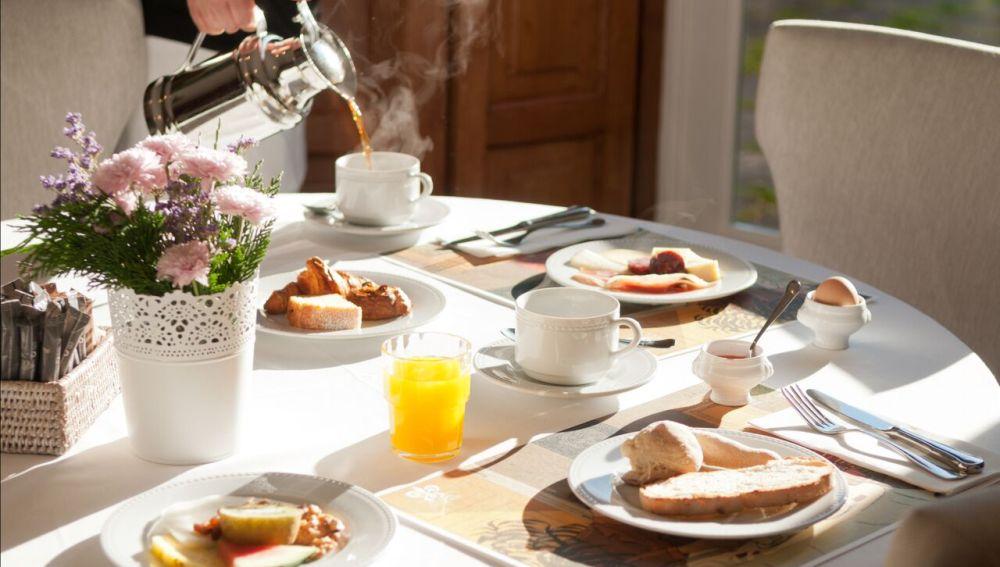 El maravilloso desayuno de A Quinta Da Auga.
