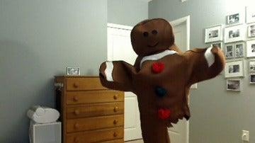 Josh Sundquist disfrazado de galleta
