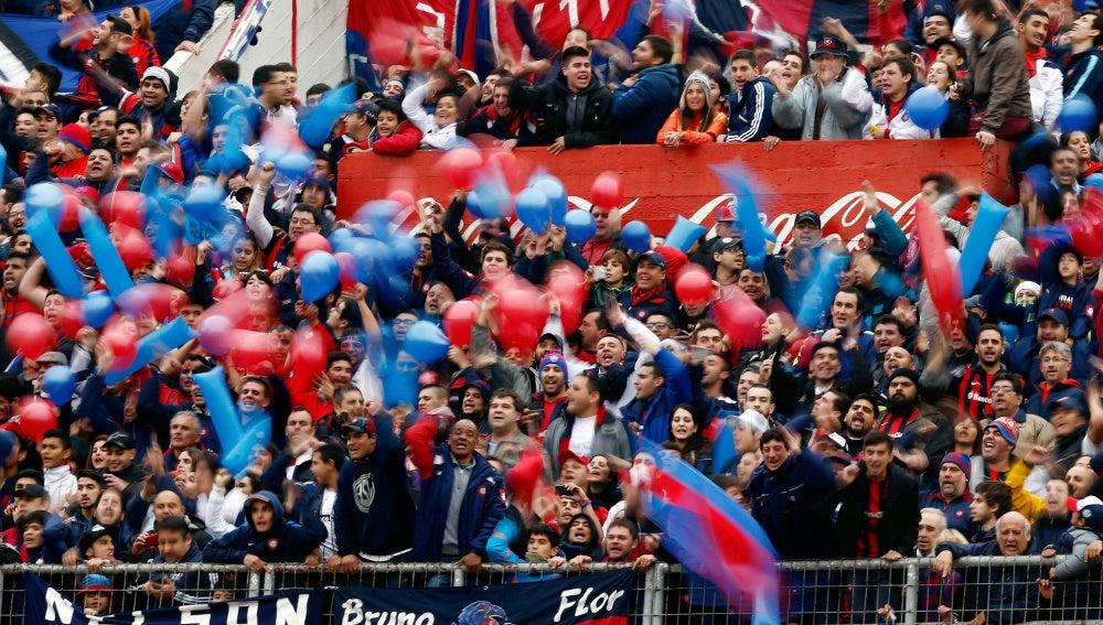 La grada de San Lorenzo, durante un partido