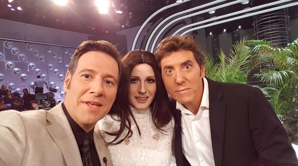 Diana Navarro, Carlos Latre y Manel Fuentes en 'Tu cara me suena'