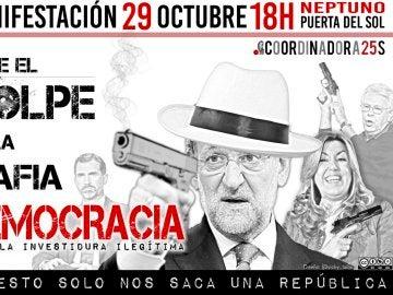 Cartel de la manifestación 'Rodea al Congreso'