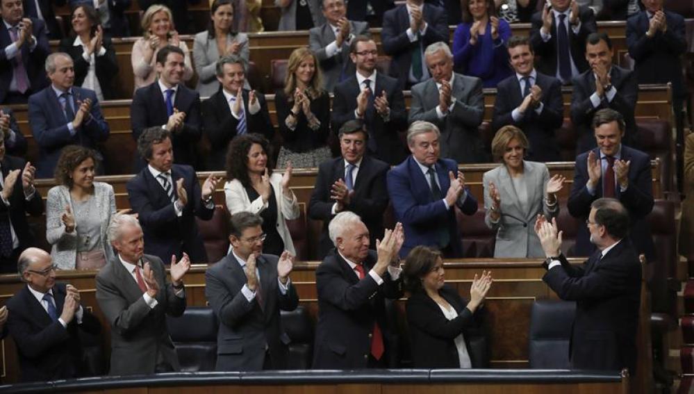 Los diputados del PP en el Congreso de los Diputados