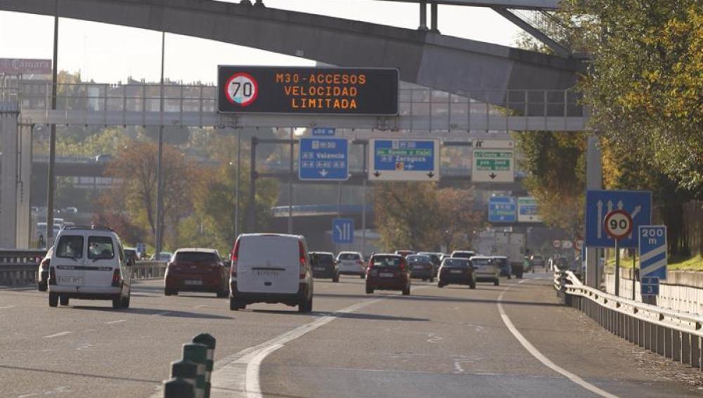 Madrid limita a 70 km/h la velocidad máxima en la M30