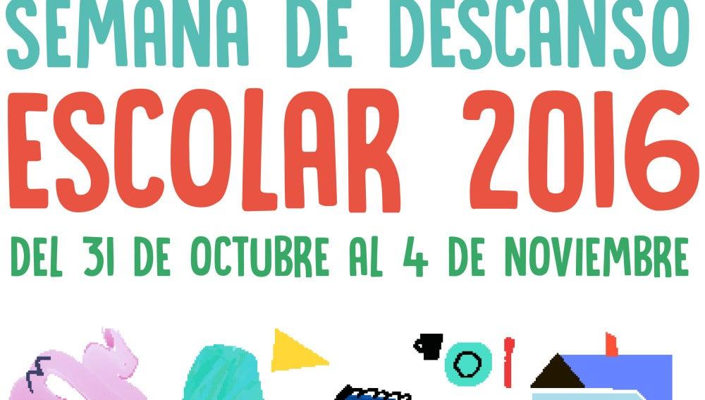 Cartel de la 'semana de descanso' en Cantabria
