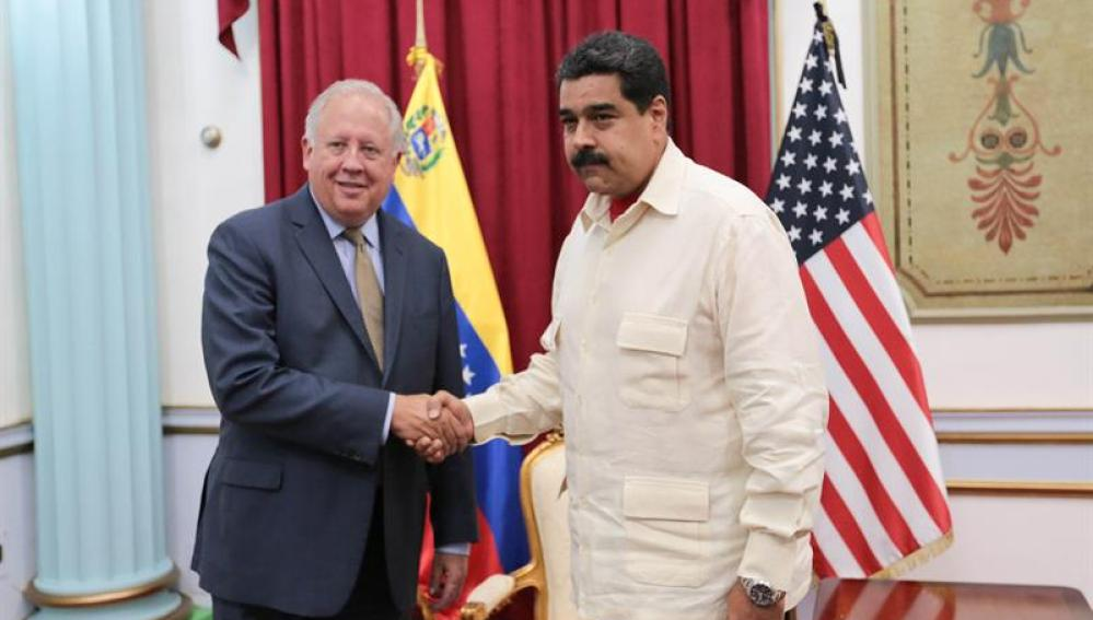 Maduro recibe al enviado de EE.UU. en apoyo al diálogo con la oposición
