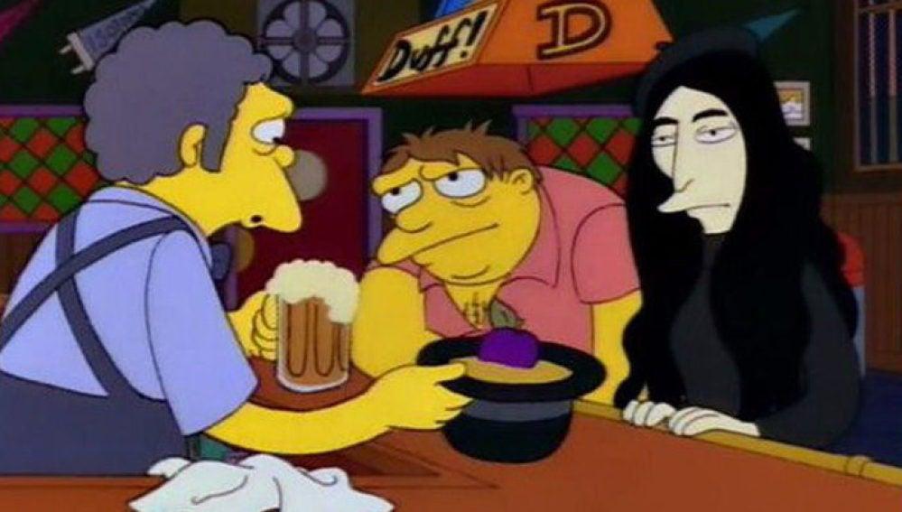 Yoko Ono en el bar de Moe