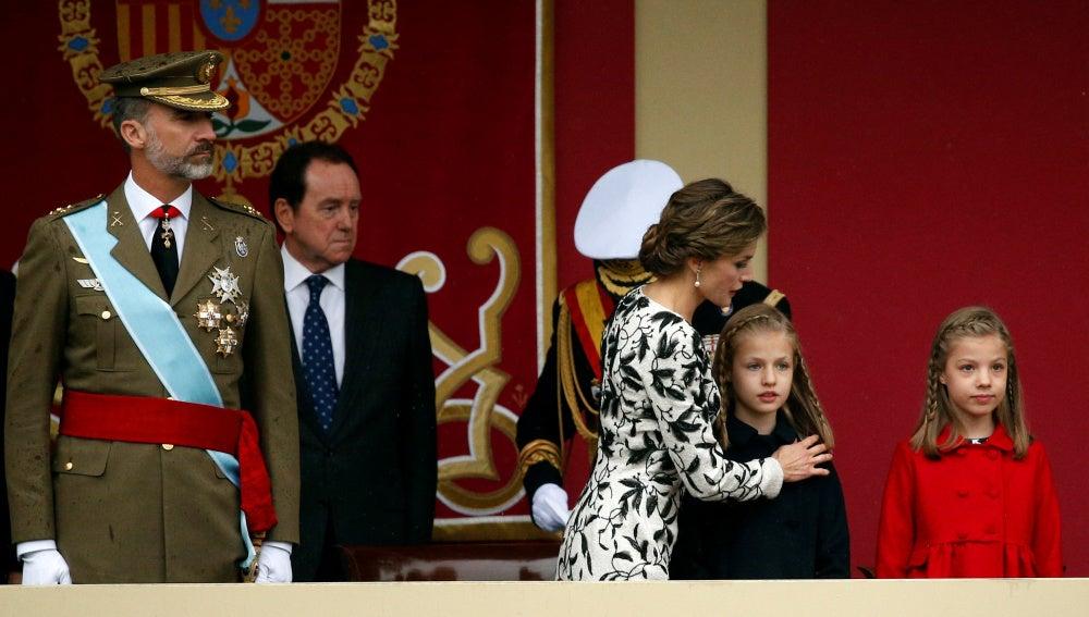Última aparición oficial de Leonor durante el desfile de la Fiesta Nacional