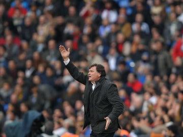 José Antonio Camacho, durante un encuentro de Liga