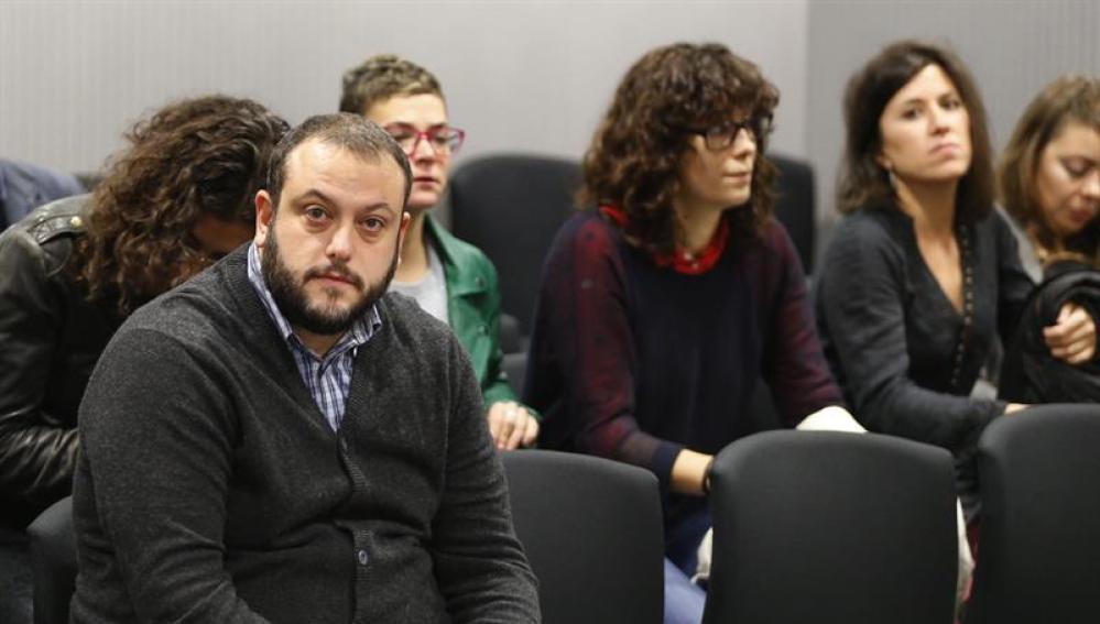 El concejal de Ahora Madrid Guillermo Zapata durante el juicio