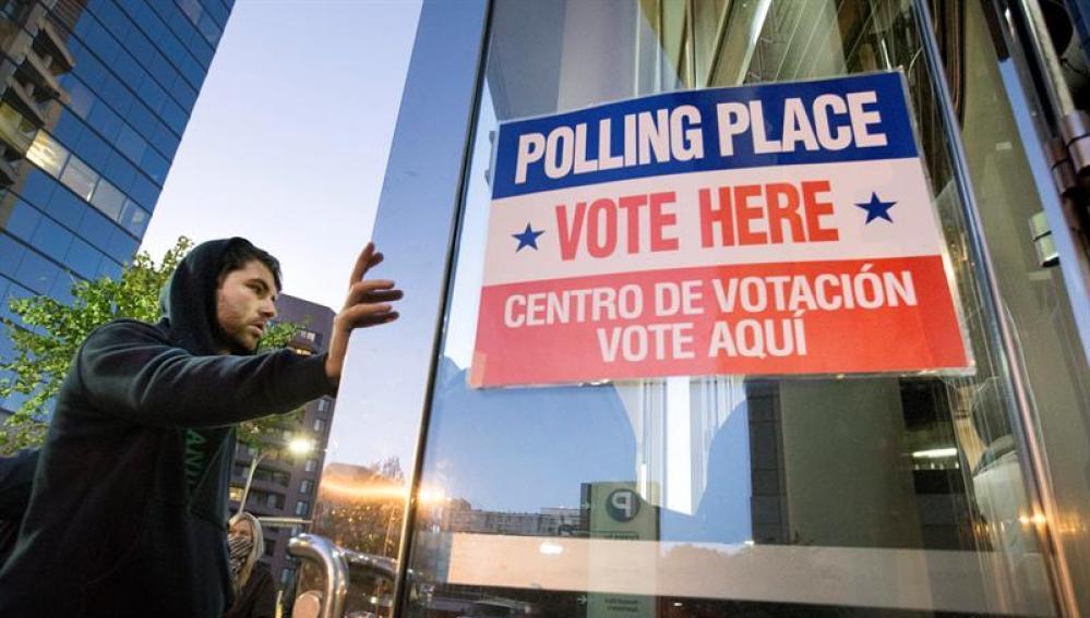 Centro de votación en EEUU