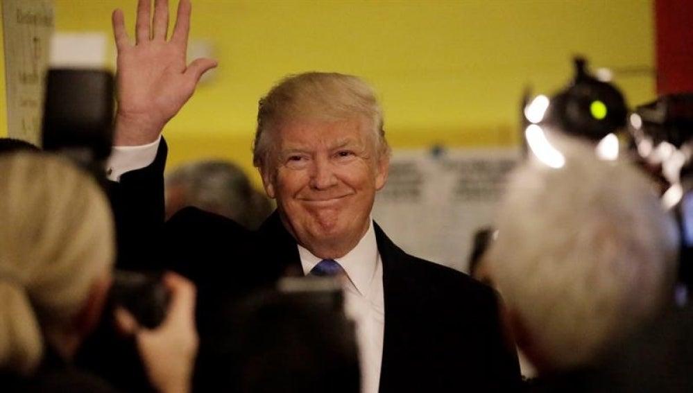 Donald Trump tras votar en Nueva York