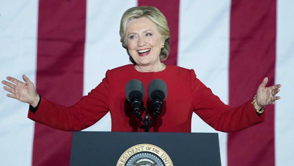 La candidata demócrata por la presidencia de Estados Unidos, Hillary Clinton