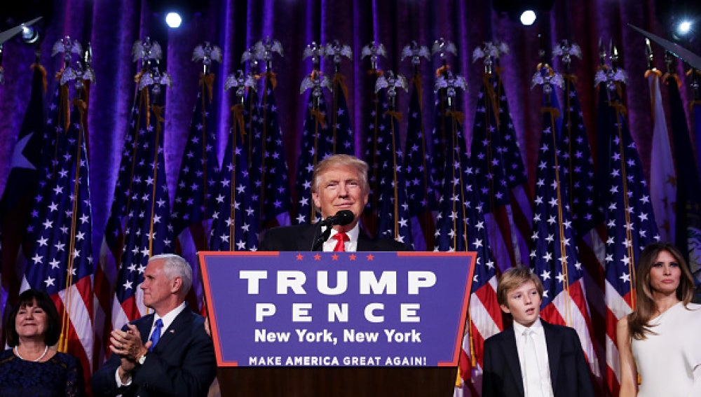 Donald Trump durante su discurso