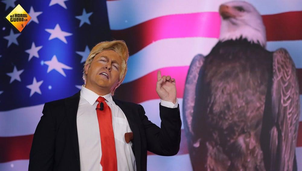 Donald Trump irrumpe por sorpresa en el plató de 'El Hormiguero 3.0'
