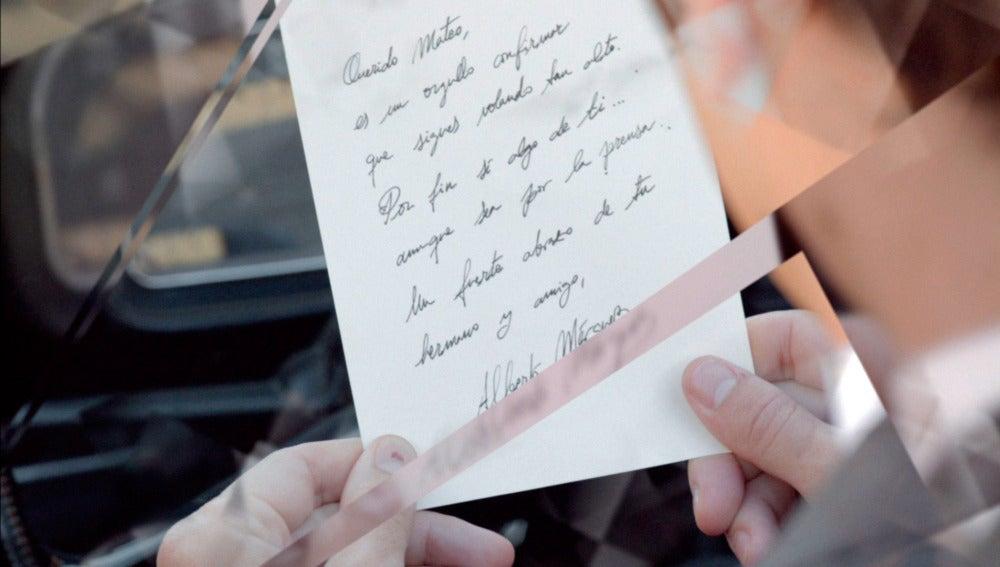 Mateo recibe una carta de Alberto Márquez